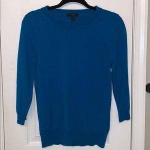 J. CREW TIPPI 100% merino wool sweater M turquoise